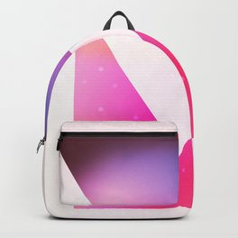 Triangle meets square geometric composition Backpack