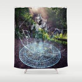 Die Elementare: Wasser Shower Curtain