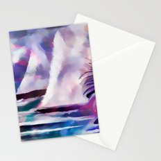 Sailing The Coast Of San Diego by Sherri Of palm Springs/ abstract Stationery Cards