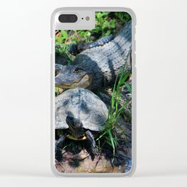 Turtle Says Follow Me Clear iPhone Case