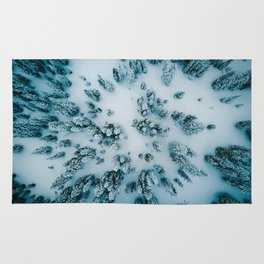 Evergreen Forest Winter (Color) Rug