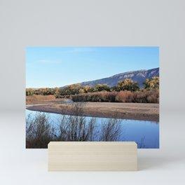 Autumn Beauty Between Sky & River Mini Art Print