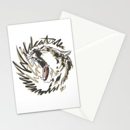 Wildcat Roar - Mountain Lion - Taupe Gray Stationery Cards