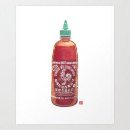 Sriracha Hot Sauce Art Print