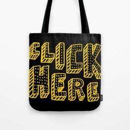 Click Here Tote Bag
