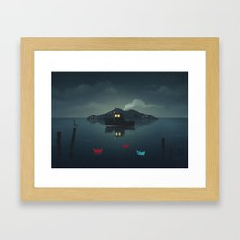 Ships In The Night Framed Art Print