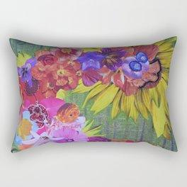 The Floral Imagination Dragon Rectangular Pillow