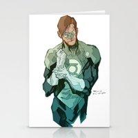 green lantern Stationery Cards featuring Green Lantern by Bruno Oliveira
