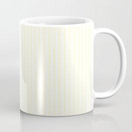 Large Vertical Pastel Lemon Yellow Princess Elizabeth Regal Stripe Coffee Mug