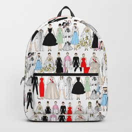 Outfits of Audrey Fashion (White) Backpack