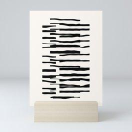 Organic No. 13 Black & Off-White #minimalism #decor #society6 Mini Art Print