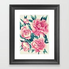 Peonies (soft tone) Framed Art Print