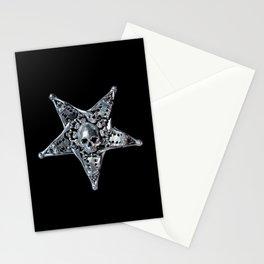 Skeleton Bone Pentagram 02 Stationery Cards