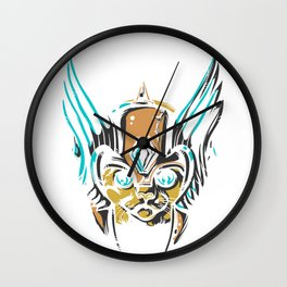 Valkyrie Cat Wall Clock