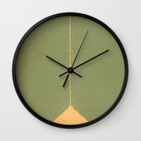 peter pan Wall Clocks featuring Peter Pan by Christian Jackson