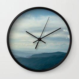 Cedar Breaks Blue Wall Clock