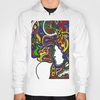 techno Hoodies featuring Rainbow Techno by Madison R. Leavelle