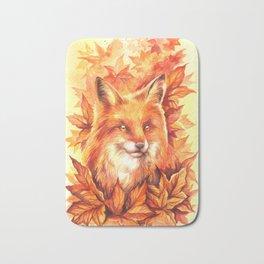 Foxy Autumn Bath Mat