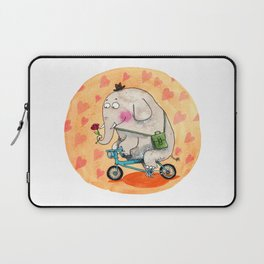 Elephant in love Laptop Sleeve