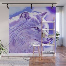 The Silver Wolf Wall Mural