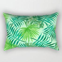 Botanical Tropics Pattern Rectangular Pillow