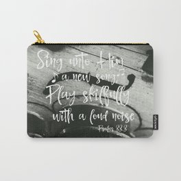Violin with Psalms Bible Verse Carry-All Pouch