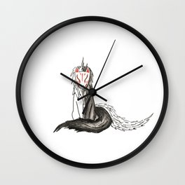 The Space Between Two Worlds Wall Clock