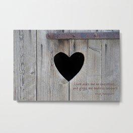 Love asks nothing Metal Print