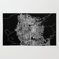 las vegas Area & Throw Rugs featuring Las Vegas map by Line Line Lines