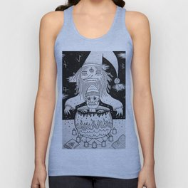 Jumped out the sorcerers cauldron. Unisex Tank Top
