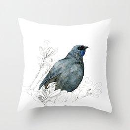 Kōkako, New Zealand native bird Throw Pillow