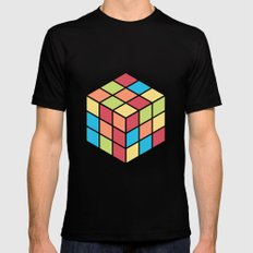 #68 Rubix Cube Black Mens Fitted Tee MEDIUM