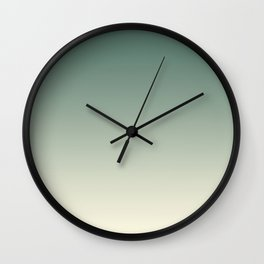 Pratt and Lambert Thistle Green 22-18 and Dover White 33-6 Ombre Gradient Blend Wall Clock