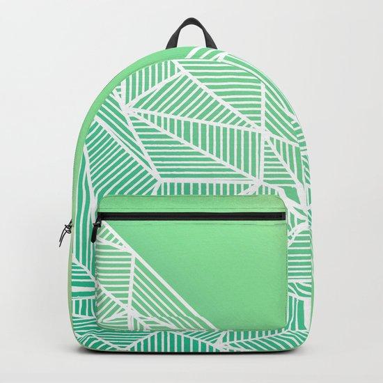 B Rays Geo Gradient Green Backpack