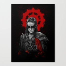 The 100 - Commander Lexa Canvas Print