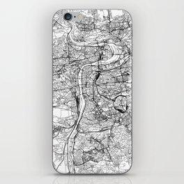 Prague White Map iPhone Skin