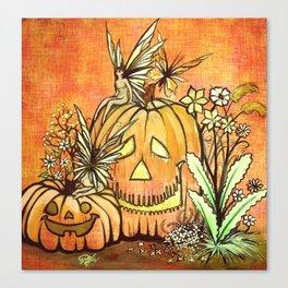 Spunky Pumpkin Fairies Canvas Print