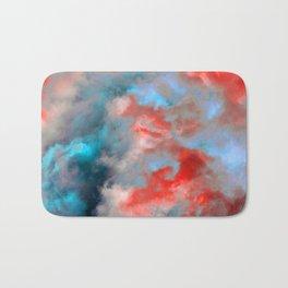 Cloudscape in Cerulean and Red Bath Mat