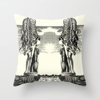 venus Throw Pillows featuring VENUS by DIVIDUS DESIGN STUDIO