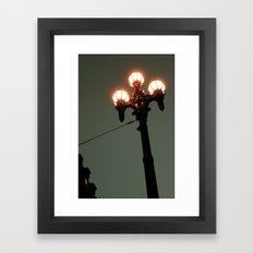 Street Light Framed Art Print