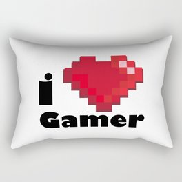 I LOVE GAMER Rectangular Pillow