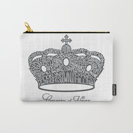 County of Kings | Brooklyn NYC Crown (GREY) Carry-All Pouch