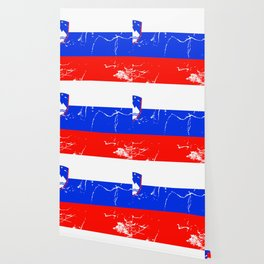 Slovenia flag with grunge effect Wallpaper