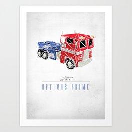 The Optimus Prime Art Print