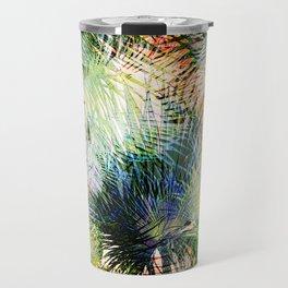 Modern palm leaves tropical abstract design Travel Mug