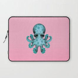 Cute Blue and Pink Baby Octopus Laptop Sleeve