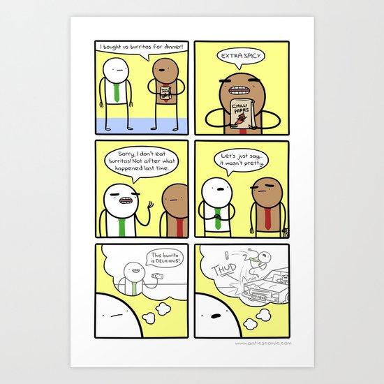 Antics #325 - a bad experience Art Print
