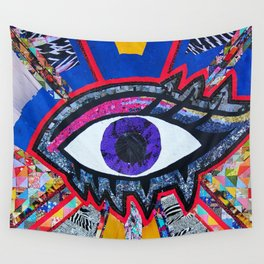 Eye collage Wall Tapestry