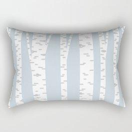 Minimalist Birch Trees by Amanda Laurel Atkins Rectangular Pillow