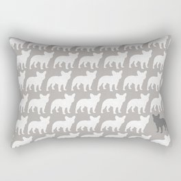 French Bulldog Silhouette(s) Rectangular Pillow